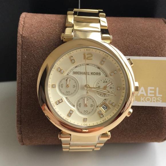 8386e03506f8 NEW Michael Kors Parker Gold Ladies Watch MK5701